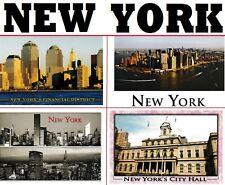 postcard NEW YORK USA City Hall Financial District Manhattan aerial post card