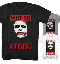 * Joker T-SHIRT WHY così Serious? Batman CINEMA FILM DARK KNIGHT NUOVO s-5xl jk21104 *