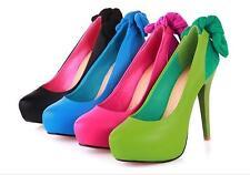 Stiletto Scarpe decolte eleganti donna spillo plateau 11 nero azzurro verde 8549