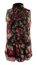 Lauren Ralph Lauren Women's Ruffled Button Down Floral Blouse