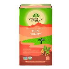 ORGANIC INDIA Tulsi Tummy Tea 25 Tea Bags - Soothing Digestive Support Brand new