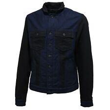 8196L giacca jeans uomo blu nera CYCLE giacche jackets coats men