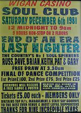 0361  Vintage Music Poster Art - Wigan Casino Soul Club