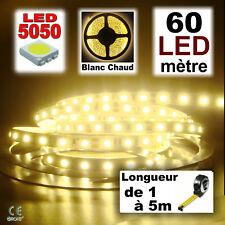 822# ruban 60 à 300 LED Blanc chaud longueur 1à 5m 5050