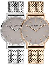 Liebeskind Berlin Mesh Armbanduhr, 34 mm in Silber oder Roségold LT-0169-MQ NEU