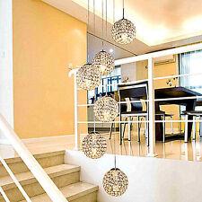 Modern restaurant chandelier crystal pendant lamp living room led stair light