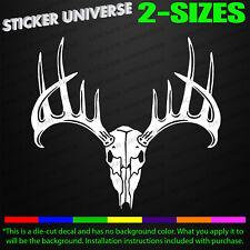 Deer Buck Antlers Skull Truck Car Window Decal Bumper Sticker Hunt 12pt Rack 210