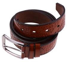 Hommes occasionnels formelle PU cuir sangle ceintures boucle ardillon 0dce7eb963d