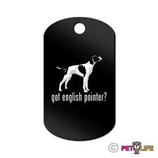 Got English Pointer Engraved Keychain GI Tag dog  Many Colors