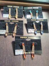 Hullabaloo Rhinestone Fashion Earring (Costume Jewelry)