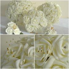 Wedding bouquet buttonhole corsage posy flowers bridesmaid SILVER GOLD SPRAYS