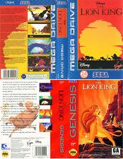 Roi Lion Sega Mega Drive PAL NTSC UE nous remplacement Box Art Case Insert Cover