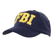 Cappello da Baseball FBI americano USA con ricamo Giallo Oro berretto Fostex 64b8c6ec38ab