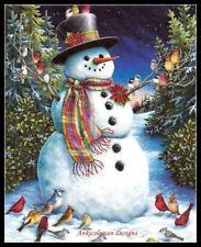 Chart Needlework Crafts DIY - Counted Cross Stitch Kits - Christmas Snowman