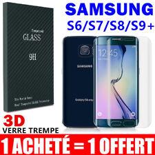 Pack2 Vitre Film Protection VERRE Trempé Incurvé Écran Samsung S8 S7 S6 Edge S9