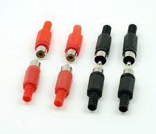 RCA Male Female Phono Adapter Audio Visual AV Plug Solder Cable Connectors Color