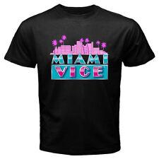 New MIAMI VICE Classic TV Series Don Johnson Men's Black T-Shirt Size S to 3XL