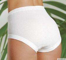 3er Pack Damen Slip Taillenslip Unterhosen hoher Leib Baumwolle weiß P150