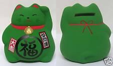Japanese Maneki Neko Ceramic Lucky Cat Coin Bank