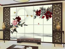 3D Flowers Butterfly 724 Wallpaper Mural Paper Wall Print Wallpaper Murals UK