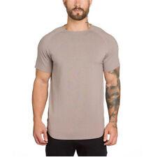 Fashion Men Sport T Shirts Active Wear Bodybuilding Workout Clothes Basic Tee
