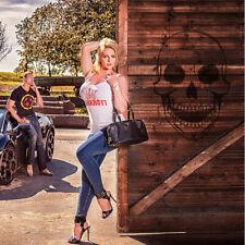 BANKROTT BA30 Streetwear Tank-Top Glitzereffekt for Ladys Krone - rot auf weiss