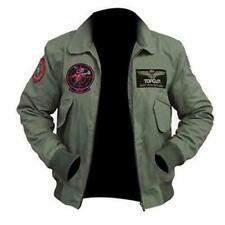 Top Gun 2 Maverick Mens Cotton Jacket Tom Cruise Flight Bomber Jet Pilot Jacket