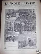 LE MONDE ILLUSTRE 1886 N 1532 LES EMEUTES A AMSTERDAM