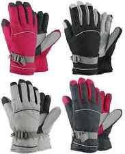 Ladies Womens Nylon Snowboard Ski Winter Gloves Thinsulate Waterproof NWT #65236