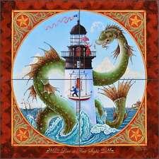 Ceramic Tile Mural Backsplash Parker Nautical Lighthouse Art POV-EP002