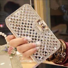 LG Stylo 4 /Plus Bling Diamond Rhinestone Flip Leather Wallet Stand Bowknot Case