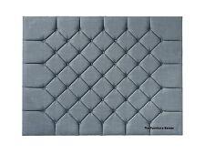 Queen Anne Wall Mount Upholstered Headboard Velvet, Linen, 3ft, 4ft6, 5ft, 6ft