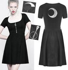 Robe évasé zippé gothique punk lolita lune mystique sorcière été PunkRave Noire