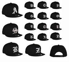 New Mens hat letter A - Z unisex Black hats baseball cap casual hat multi colors