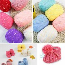 Skein x50g Super Soft Silk Cotton Point Baby Hand Knitting Crochet Yarn Sale