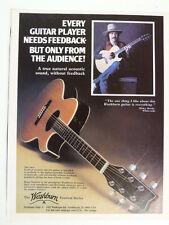 vintage magazine advert 1982 WASHBURN / micky moody whitesnake
