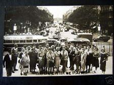 France~1954 PARIS~SOUVENIR DE PARIS~AUTOBUS~photo