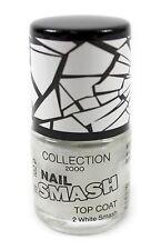 White Collection 2000 Nail Smash Crackle Glaze Top Coat Nail Varnish Polish
