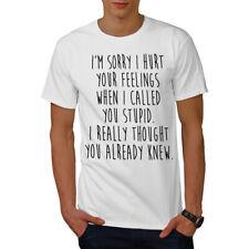 Wellcoda Sorry Hurt Feelings Mens T-shirt, Funny Graphic Design Printed Tee