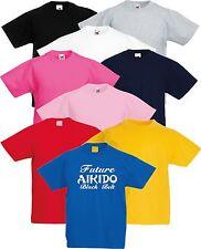 Niño Aikido Future Cinturón Negro Artes Marciales Camiseta
