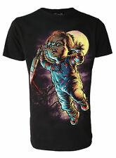 Darkside Mens T Shirt Chuckie Chucky Tee Black Size S L Horror Movie 80's Film