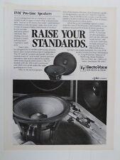 vintage magazine advert 1984 EV ELECTRO VOICE PRO-LINE