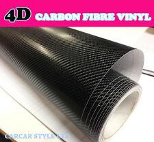 4D Noir Brillant 750mm X 300mm】carbone Voiture Vinyl Fibre Protection Air