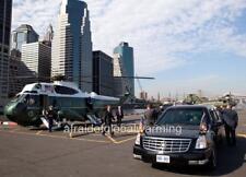 Old Photo. Barack Obama Leaving Marine One
