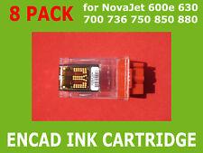 8 Pack Empty Ink Cartridge for Encad NovaJet 600 630 700 750 736 850 880 600dpi