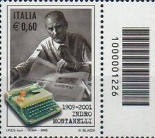 2009 francobollo Indro Montanelli CON CODICE A BARRE 1226