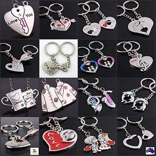 Couple Pair Key chain Keyring I Love You Key Heart  Arrow  KeyChain Gift His&Her