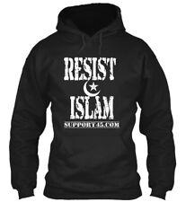 Resist Islam Gear - Support45.com Gildan Hoodie Sweatshirt