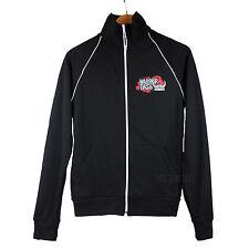 NEW American Apparel California Fleece Black Warrior Dash Track Jacket made USA