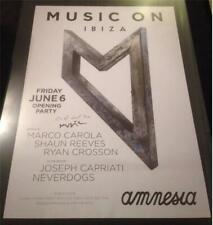 MARCO CAROLA MUSIC ON @ AMNESIA CLUB - IBIZA CLUB POSTERS 2012 / 2013 / 2014 DJ